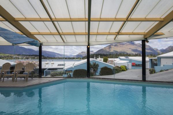 Unwind in our heated pool
